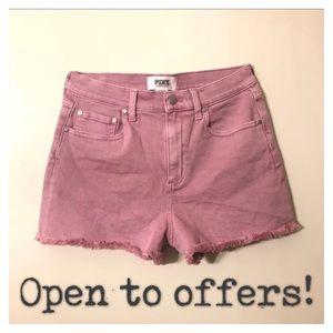 VS PINK High Waisted Denim Shorts